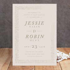 Elegant Frame Foil Wedding Invitations by Lori Wemple