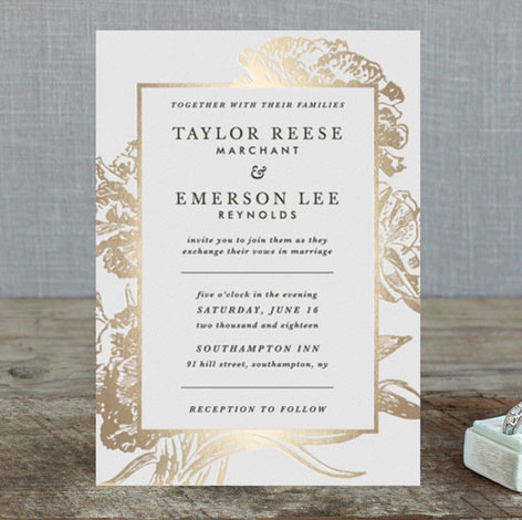 foil stamped archives - invitation crush, Wedding invitations