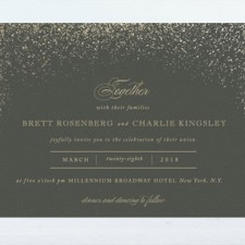 Golden Dust Foil Wedding Invitations by Fatfatin