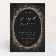 Sprinkle Gold Foil Wedding Invitations by Lehan Veenker