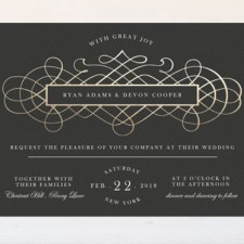 Vintage Romance Foil Wedding Invitations by Elly