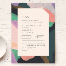 Abstract Modern Wedding Invitations by Moglea