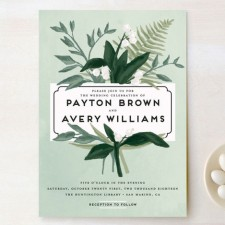 Botanical Wedding Invitations by Shiny Penny Studio