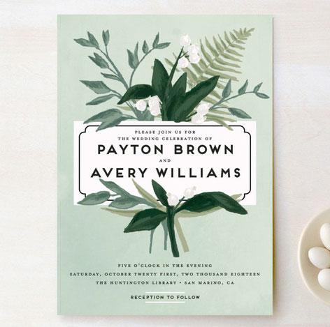 Botanical Wedding Invitations By Shiny Penny Studio