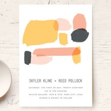 Brush Art Wedding Invitations by Allison Cormu