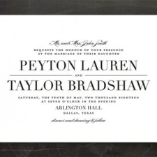Classic Black & White Wedding Invitations by Lauren Chism