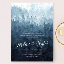 Mountain Retreat Wedding Invitations by Design Lotus
