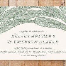 Sketched Leaves Wedding Invitations by Katharine Watson