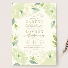 Southern Garden Wedding Invitations by Lori Wemple