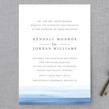 Watercolor Stripe Wedding Invitations by Bethan