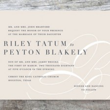 Modern Monogram Wedding Invitations by Lauren Chism