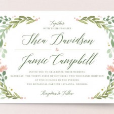 Garden Glamour Wedding Invitations by Kristen Smith
