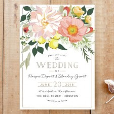 Spring Blooms Wedding Invitations by Susan Moyal