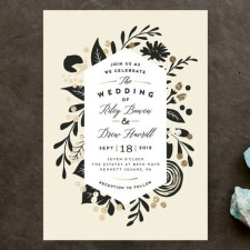 Statement Florals Wedding Invitations by Jennifer Wick