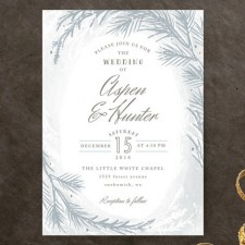 Winter Dream Wedding Invitations by Karidy Walker