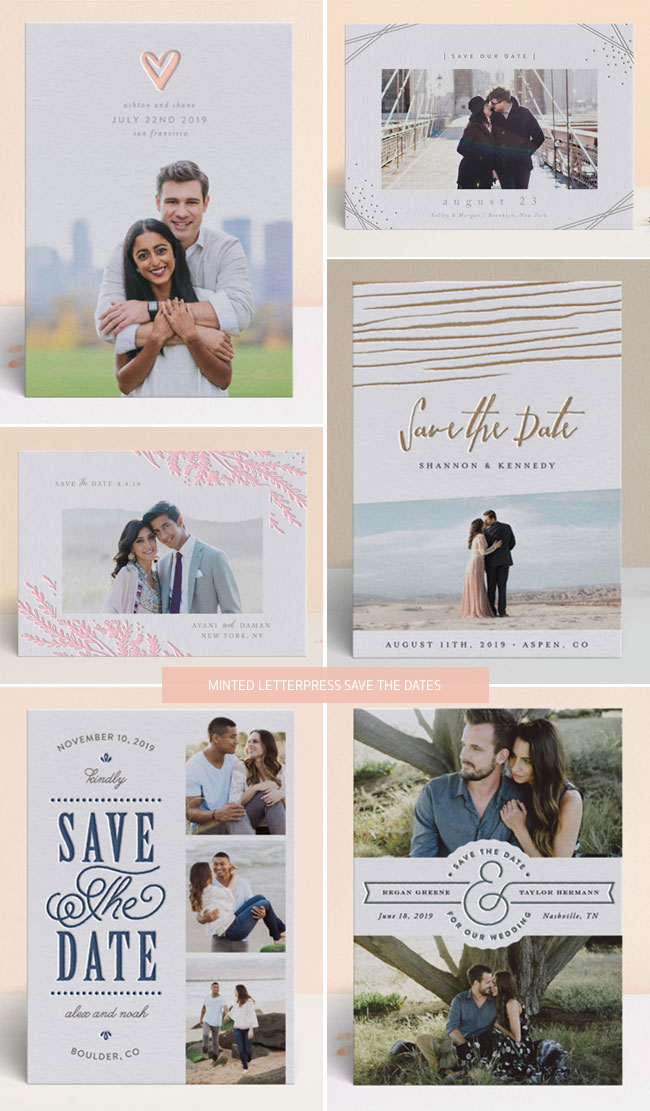 Minted Letterpress Save the Dates