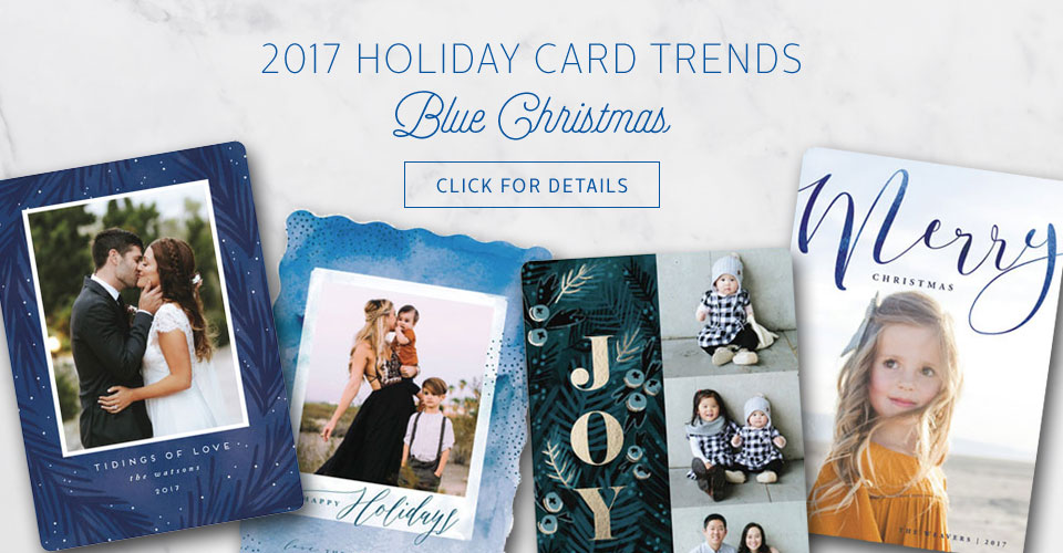 Holiday Card Trends 2017 : Blue Christmas