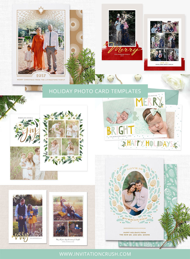 Holiday & Christmas Photo Card Templates for Photographers #holidaycards